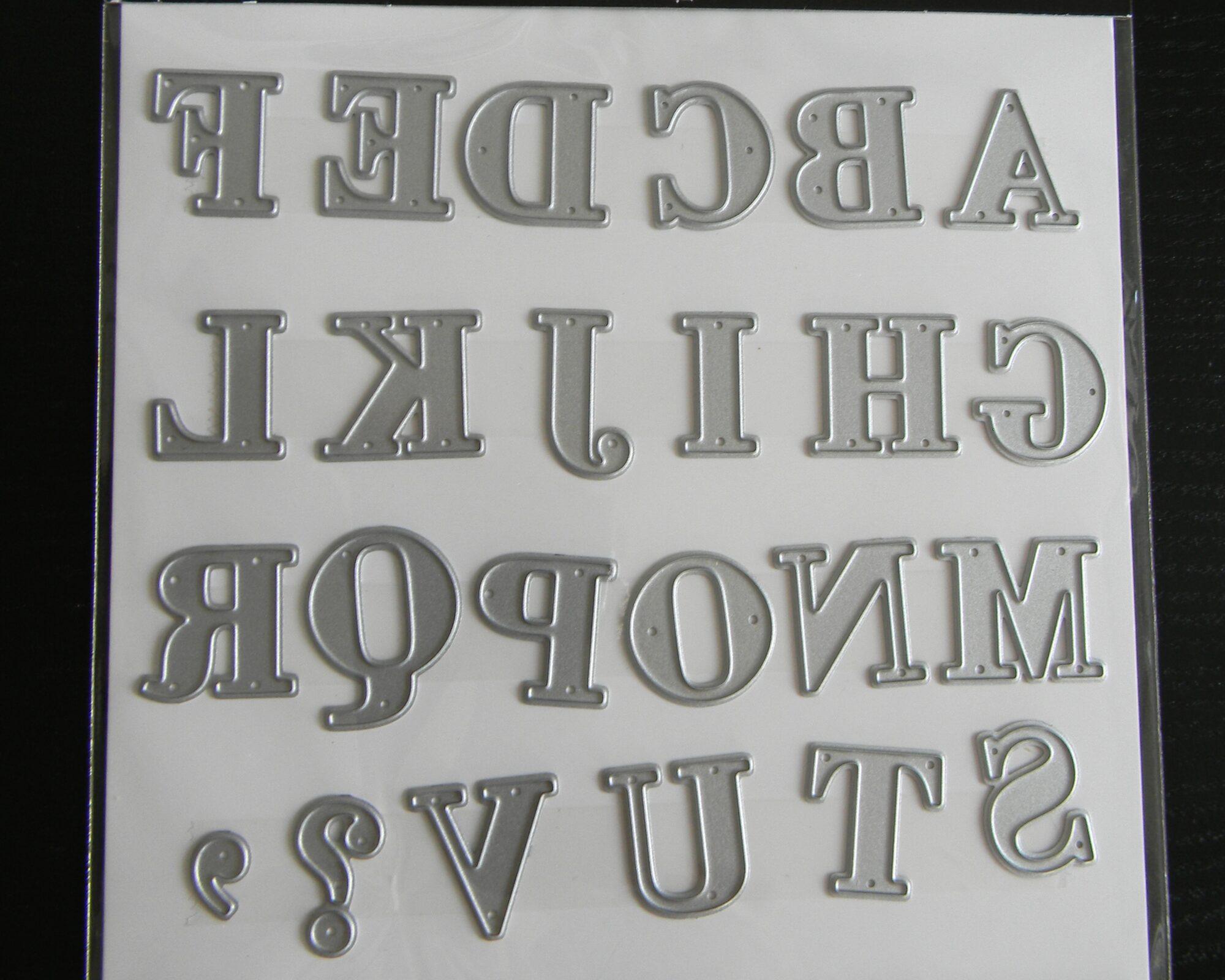Bogstaver til stansemaskine