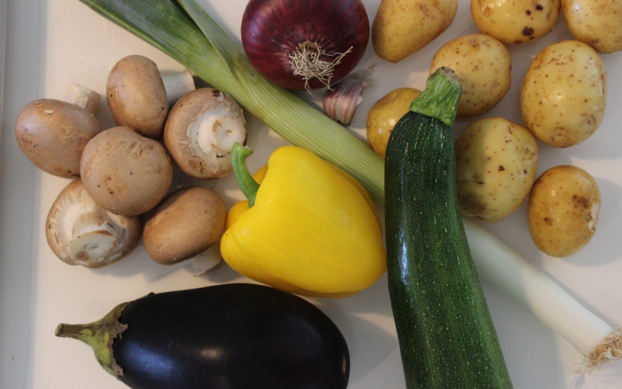 Grønsager til en nem og lækker vegetarlasagne