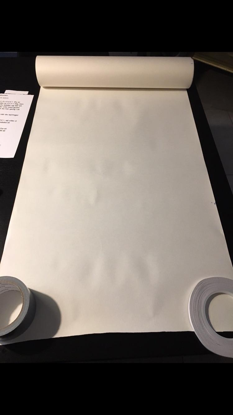 Stort stykke papir