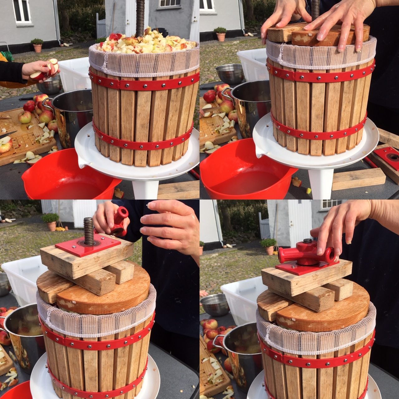 Sådan samles en æblepresser
