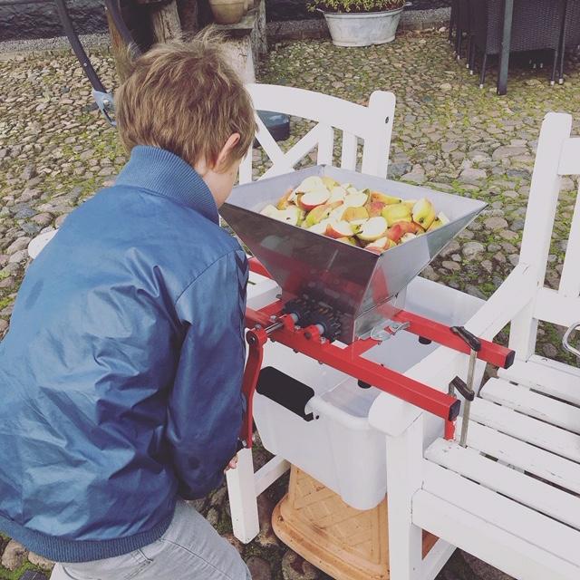 Xander kværner æbler
