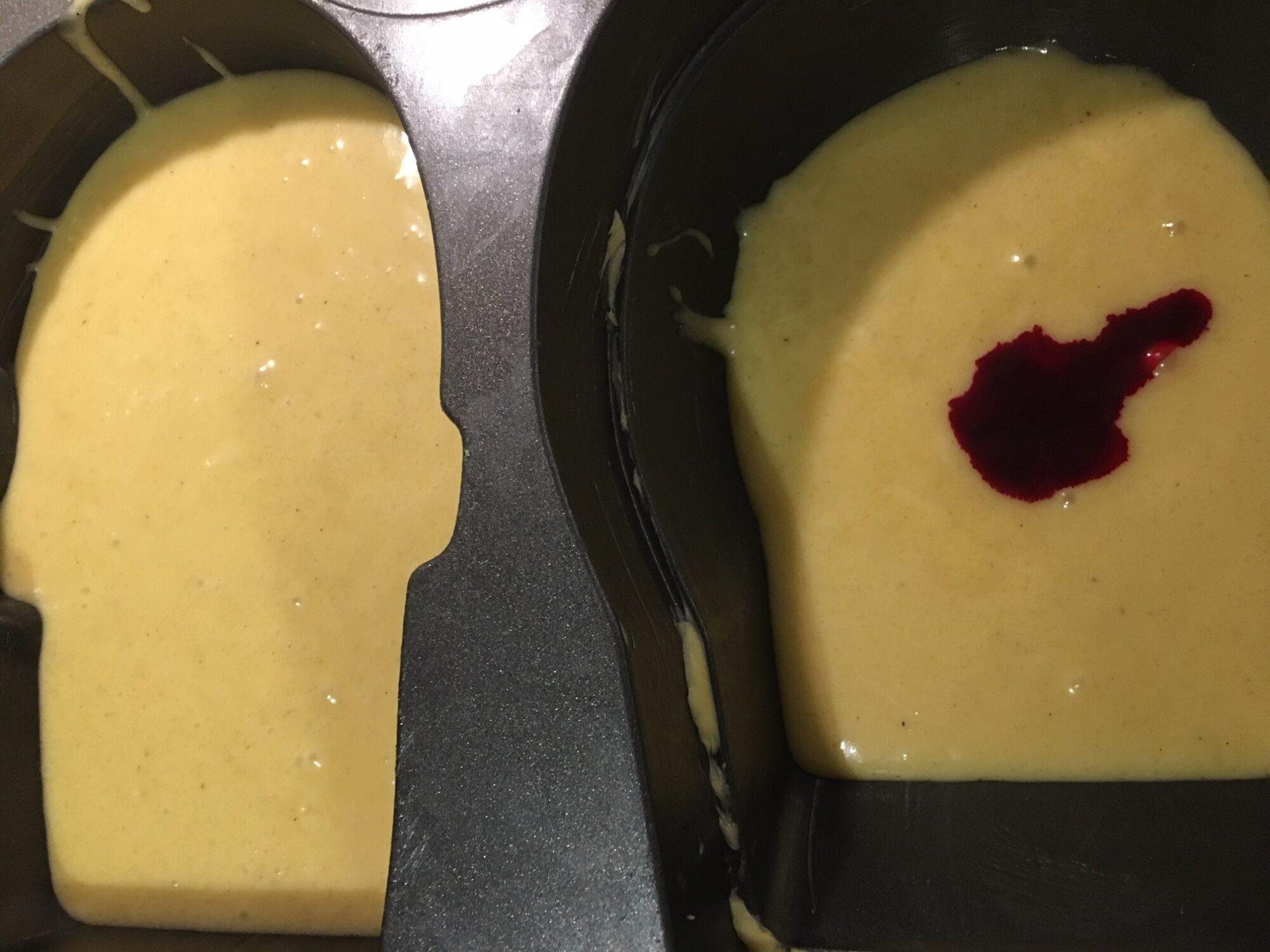 En blodig overraskelse i midten af kagen
