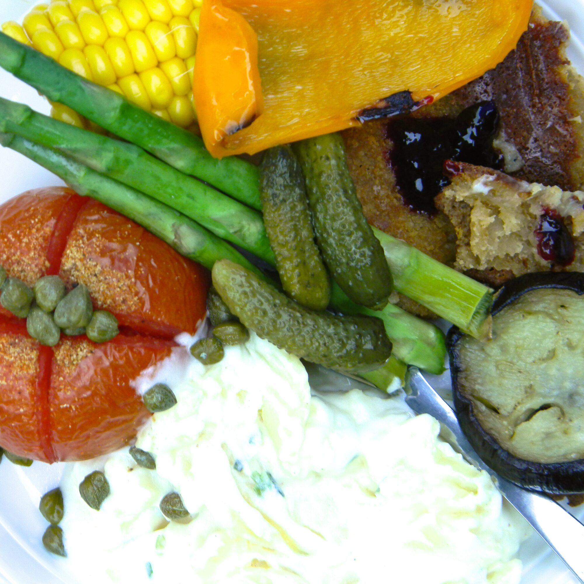 Vegetar mad på grill
