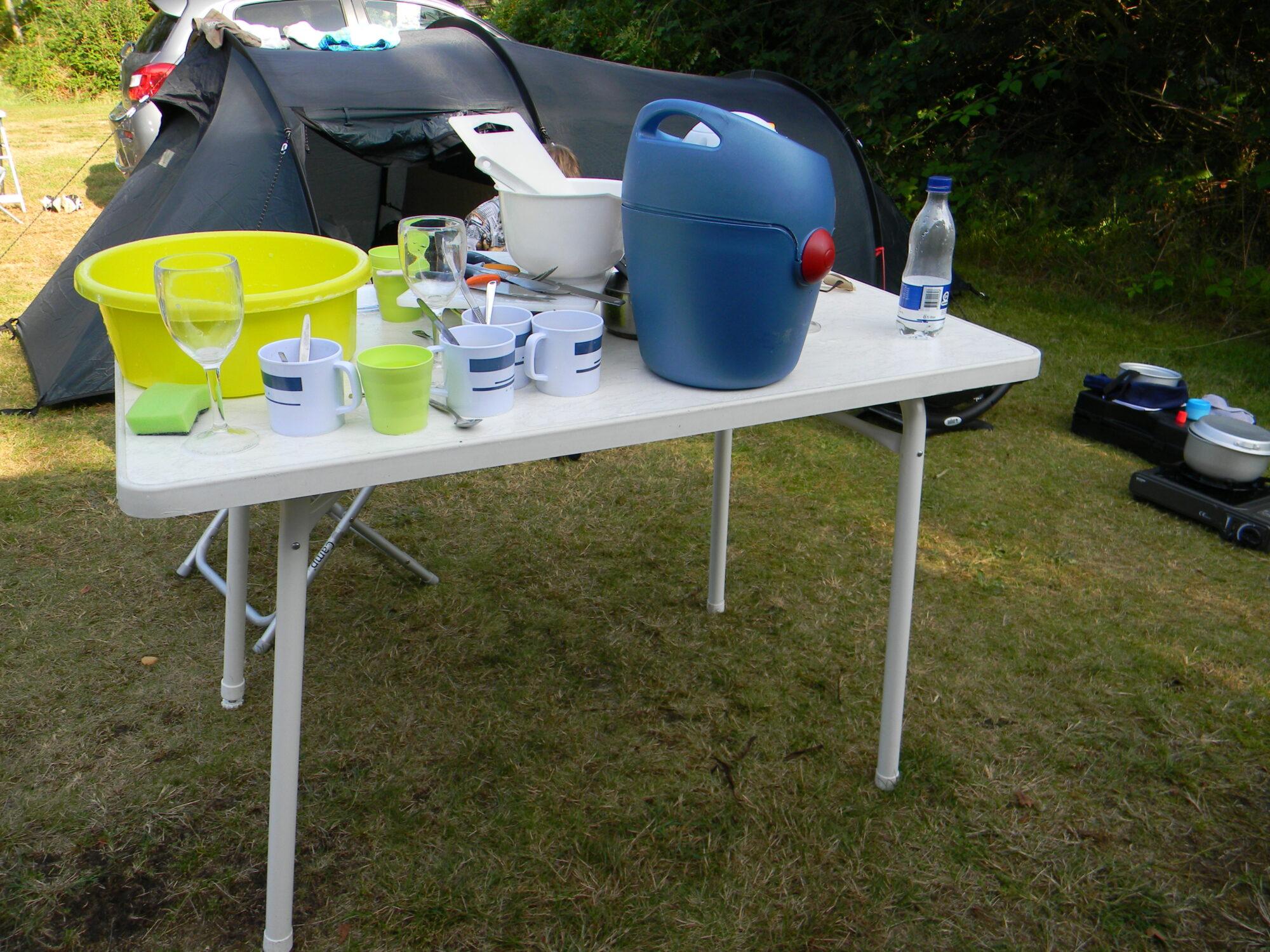 Opvask på camping