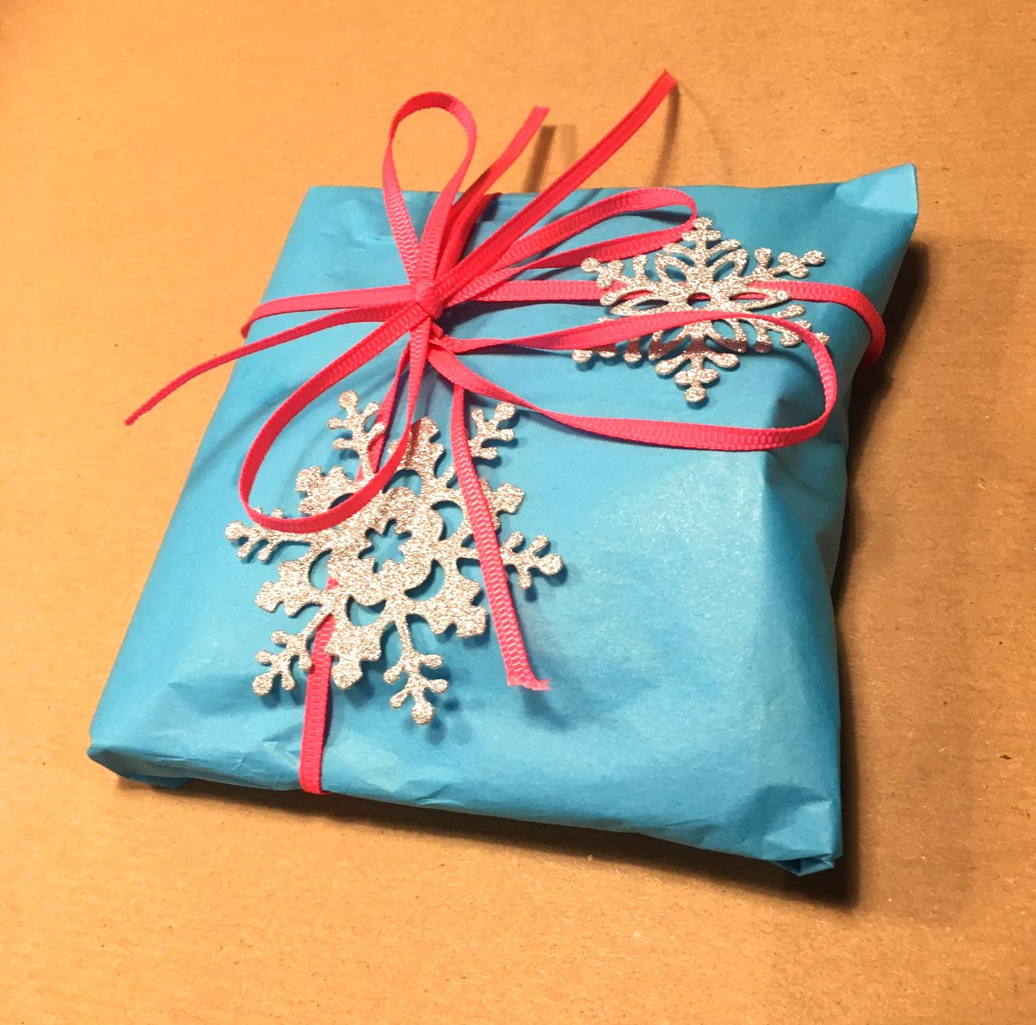 Lille pakke med iskrystaller