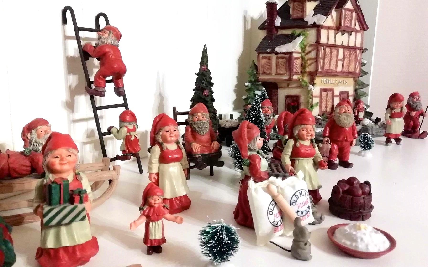 Voksne kan også lave julelandsbyer