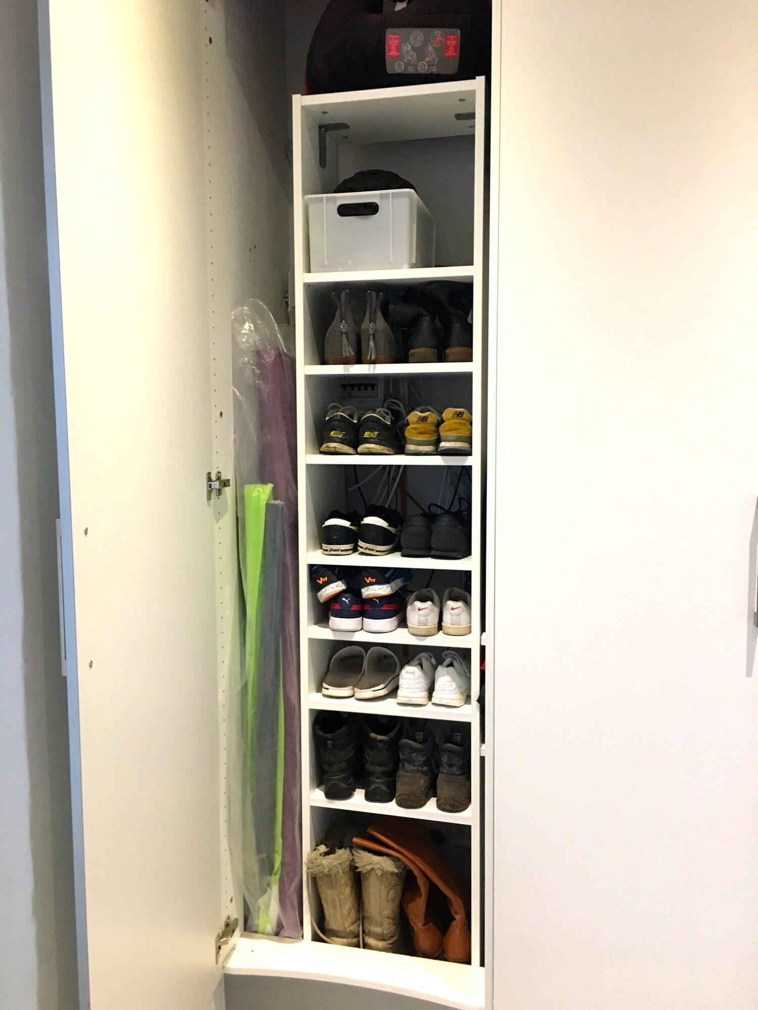 Plads til mange sko og diverse