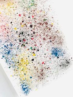 Kunstværk med farvekridt