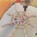 Spindelvæv af glitterlim